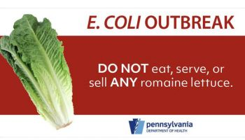 PA DOH to restaurants: Do not serve any romaine lettuce