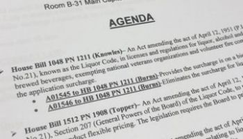 House Liquor Control Committee Moves Flexible Pricing Repeal Bill; Three Other Bills