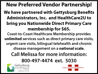 Preferred Vendor: Gettysburg Benefits Administration Inc